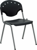 HERCULES Series 550 lb. Capacity Black Polypropylene Stack Chair - RUT-TY01-BK-GG