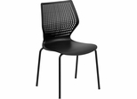 HERCULES Series 770 lb. Capacity Designer Black Stack Chair - RUT-358-BK-GG