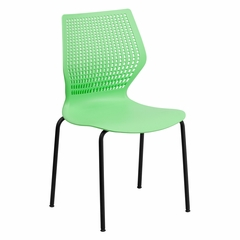 HERCULES Series 770 lb. Capacity Designer Green Stack Chair - RUT-358-GN-GG