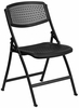 HERCULES Series 990 lb. Black Designer Comfort Molded Folding Chair  - RUT-NC398-BK-GG