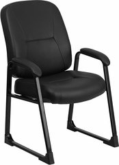HERCULES Series Big & Tall Leather Executive Side Chair - WL-738AV-LEA-GG