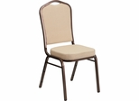 HERCULES Series Crown Back Stacking Banquet Chair - FD-C01-COPPER-BGE-GG