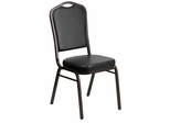 HERCULES Series Crown Back Stacking Banquet Chair - FD-C01-GOLDVEIN-BK-VY-GG