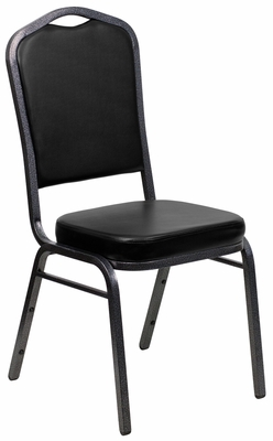 HERCULES Series Crown Back Stacking Banquet Chair - FD-C01-SILVERVEIN-BK-VY-GG
