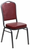 HERCULES Series Crown Back Stacking Banquet Chair - FD-C01-SILVERVEIN-BURG-VY-GG