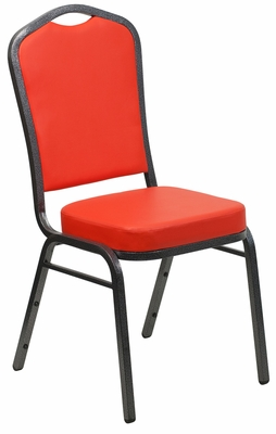HERCULES Series Crown Back Stacking Banquet Chair - FD-C01-SILVERVEIN-CRIM-VY-GG