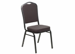 HERCULES Series Crown Back Stacking Banquet Chair - FD-C01-SILVERVEIN-GY-GG