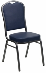 HERCULES Series Crown Back Stacking Banquet Chair - FD-C01-SILVERVEIN-NY-VY-GG