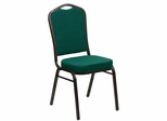 HERCULES Series Crown Back Stacking Green Fabric Banquet Chair - FD-C01-GOLDVEIN-GN-GG