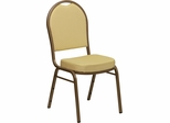 HERCULES Series Dome Back Stacking Banquet Chair - FD-C03-ALLGOLD-H20377A-GG