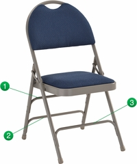 HERCULES Series Extra Large Ultra-Premium Triple Braced Navy Fabric Metal Folding Chair - HA-MC705AF-3-NVY-GG