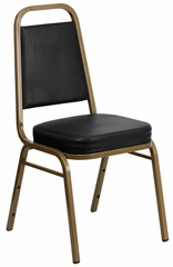 HERCULES Series Stacking Banquet Chair with Gold Frame - FD-BHF-1-ALLGOLD-BK-GG