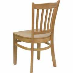 HERCULES Vertical Slat Back Wood Chair with Natural Finish - XU-DGW0008VRT-NAT-GG