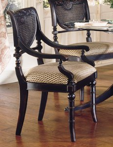 Heritage Cane Arm Chair (Set of 2) - Largo Furniture - JS-C403B-44-SET