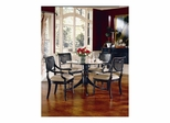 Heritage Carved Round Table with 4 Cane Dining Chairs - Largo - LARGO-WG-JS-C403B-SET