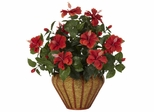 Hibiscus Wall Sconce Silk Plant - Nearly Natural - 6710