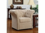 High-Back Accent Chair in Beige - 902034