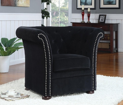 High-Back Accent Chair in Black - 902032