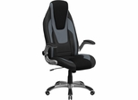 High Back Black & Gray Vinyl Executive Office Chair - CH-CX0326H02-GG
