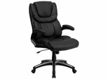 High Back Black Leather Executive Office Chair - BT-9896H-GG