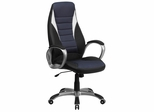 High Back Black Vinyl Executive Office Chair - CH-CX0243H-SAT-GG