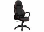 High Back Black Vinyl Executive Office Chair - CH-CX0248H01-VEN-GG