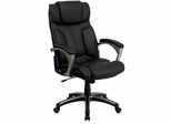 High Back Folding Black Leather Executive Office Chair  - BT-9875H-GG