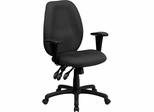 High Back Gray Fabric Ergonomic Task Chair - BT-6191H-GY-GG