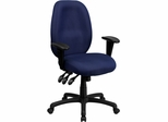 High Back Navy Fabric Ergonomic Task Chair - BT-6191H-NY-GG