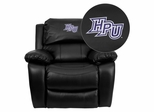High Point University Panthers Black Rocker Recliner - MEN-DA3439-91-BK-45011-EMB-GG