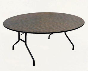 "Walnut Top High-Pressure 3/4"" Top Folding Table 60"" Round - Correll Office Furniture - CF60PX"