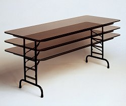 "High-Pressure 5/8"" Top Adjustable Folding Table 30"" x 72"" - Correll Office Furniture - CFA3072P"