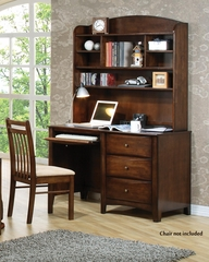 Hillary and Scottsdale Warm Brown Youth Computer Desk with Hutch - 400287
