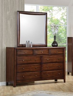 Hillary Dresser with Mirror in Warm Brown - Coaster - 200643-44-SET