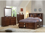 Hillary Queen Size Bedroom Furniture Set in Warm Brown - Coaster - 200609Q-BSET