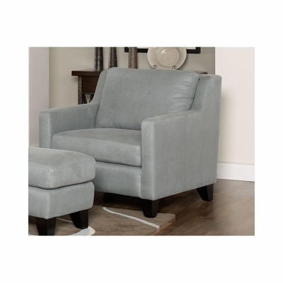 Hilton Mist Leather Club Chair - Largo - LARGO-ST-F2540-403