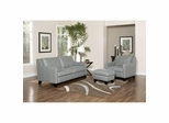 Hilton Mist Leather Sofa, Club Chair and Ottoman - Largo - LARGO-WG-F2540-SET