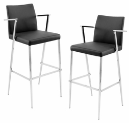 Hitchcock Barstool Black (Set of 2) - LumiSource - BS-JMB-HITC-BK2