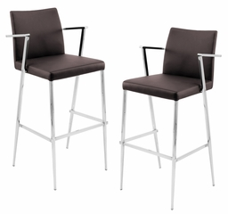 Hitchcock Barstool Brown (Set of 2) - LumiSource - BS-JMB-HITC-BN2