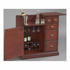 Hodley 2 Door 1 Drawer Bar Cabinet - Pulaski
