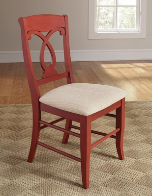 Holland Pineapple Back Dining Side Chair - Set of 2 - 103822RED