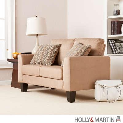 SEI Carlton Stationary Loveseat - Mocha