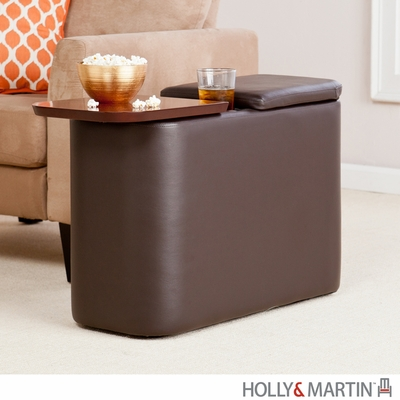 SEI Entertainment Companion Table - Caf� Brown
