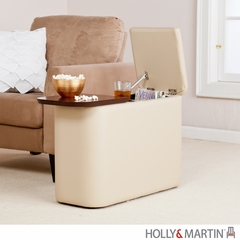 SEI Entertainment Companion Table - Taupe