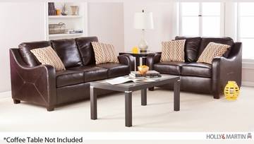 SEI Montfort Sofa / Love 2pc Set - Chocolate