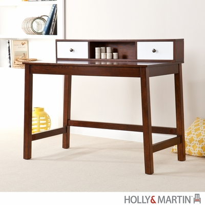 Holly & Martin Brody Espresso / White Home Office Desk