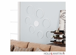 Holly & Martin Bubbles 8pc Wall Sculpture