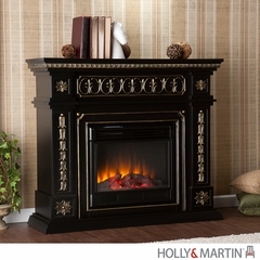 SEI Donovan Electric Fireplace - Black