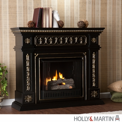 SEI Donovan Gel Fuel Fireplace - Black