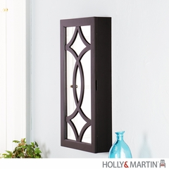 Holly & Martin Cora Wall-Mount Jewelry Mirror - Black